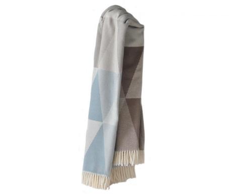 Priročna odeja Pisa Blue & Grey 140x180 cm