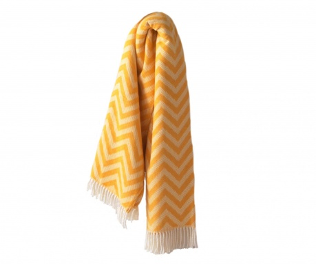 Koc Chevron Yellow 140x180 cm