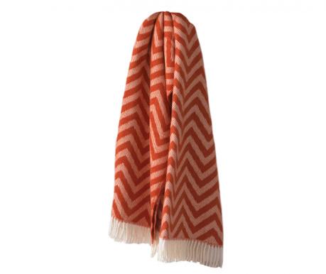 Priročna odeja Chevron Terracotta 140x180 cm