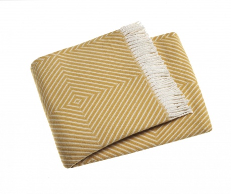 Priročna odeja Tebas Saffron Yellow 140x180 cm