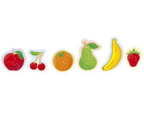 Set 6 slagalica 18 dijelova Fruits