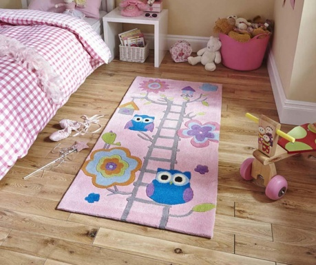 Tepih Owl on Ladder Pink 70x140 cm