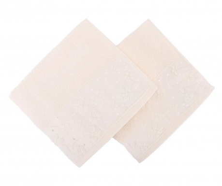 Papatya Cream 2 db Fürdőszobai törölköző 50x90 cm