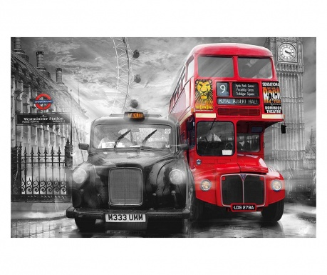 Tapet Taxi & Bus 115x175 cm