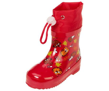 Cizme de ploaie copii Forest Animals Red 25