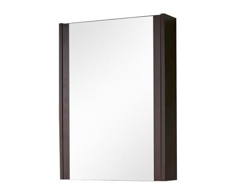 New York Wenge Fali szekrény tükörrel