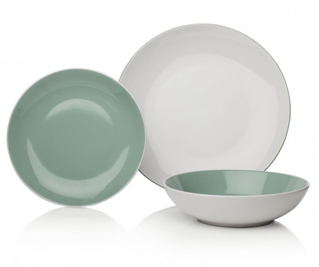 12-dijelni servis za jelo Ives Two Tone Green