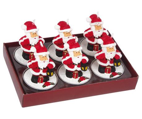 Set 6 sveč Santa Claus