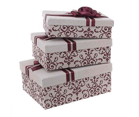 Комплект 3 кутии с капак Red Naeae