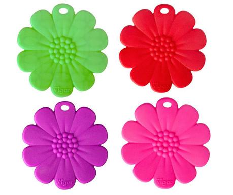 Σετ 4 σουβέρ Flowers