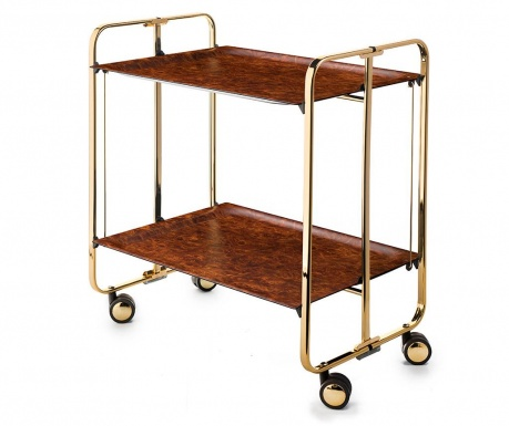 Sklopiva kolica za posluživanje Star Mini Gold Brown