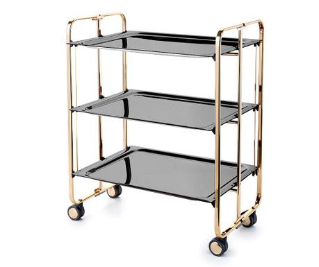 Sklopiva kolica za posluživanje Star Maxi Gold Black