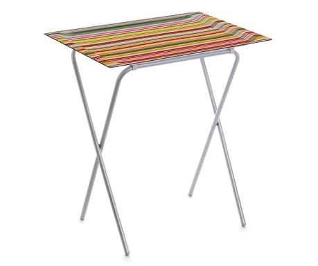 Skládací stolek s podnosem Stripes