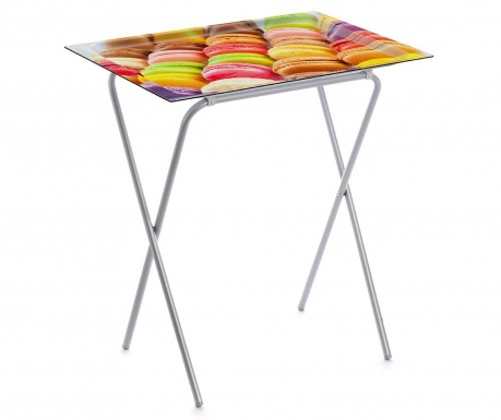 Skládací stolek s podnosem Macarons