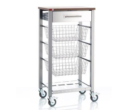 Kuchyňský vozík Onda Silver