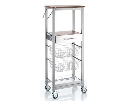 Kuchyňský vozík Onda High Silver