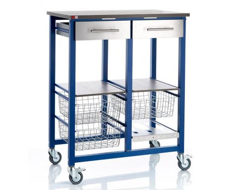 Kuchyňský vozík Onda Double Blue
