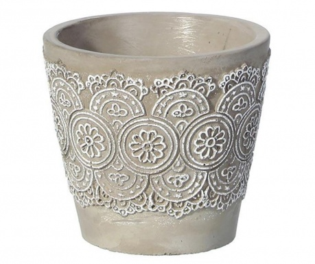 Flower pot White Lace S