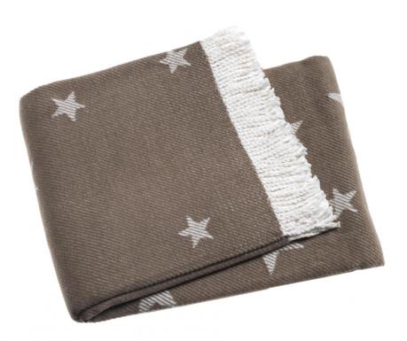 Priročna odeja Stars Chestnut 140x180 cm