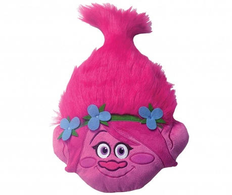 Декоративна възглавница Trolls Poppy 3D 33x54 см