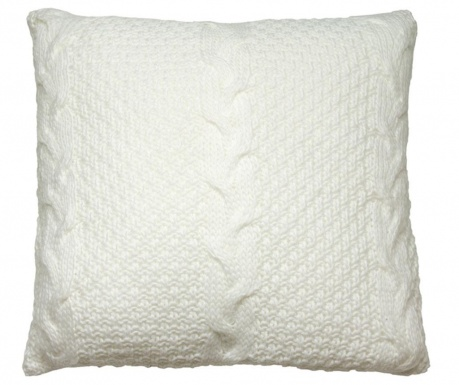 Perna decorativa Gliss Knitted White 45x45 cm