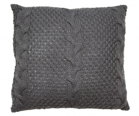 Ukrasni jastuk Gliss Knitted Grey 45x45 cm