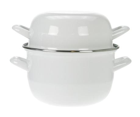 Lonec za kuhanje školjk Mussel White