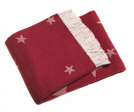 Pled Stars Red 140x180 cm