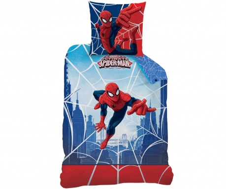 Posteljina Single Ranforce Spiderman Web