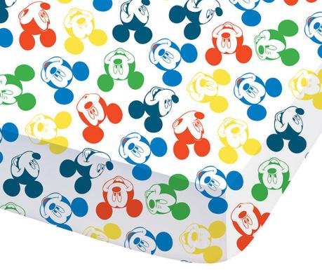 Mickey Expression Ranforce gumis lepedő 90x190 cm