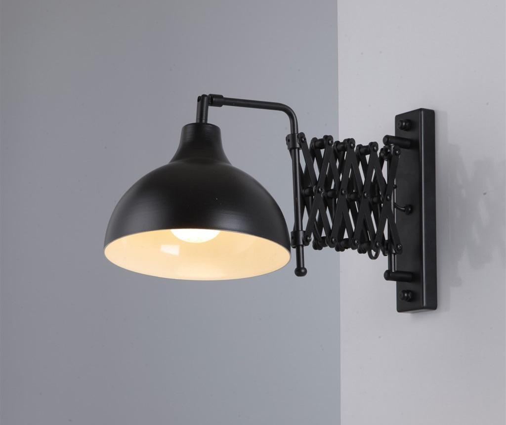 Stenska svetilka z odjemnikom toka Baha Black