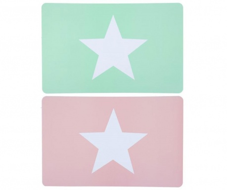 Set 2 individualuri Pastel Stars 28.2x43.5 cm