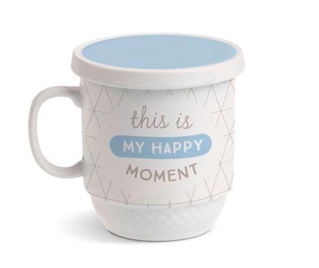 Cana cu capac si infuzor My Happy Moment 350 ml