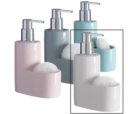 Dispenser detergent lichid si burete Pastel White