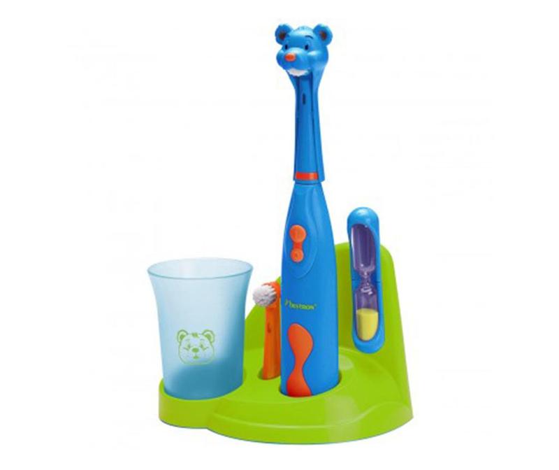 Dječja električna četkica i dodatci Clean Bear Blue