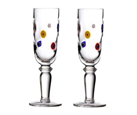 Set 2 kozarcev za šampanjec Flutes