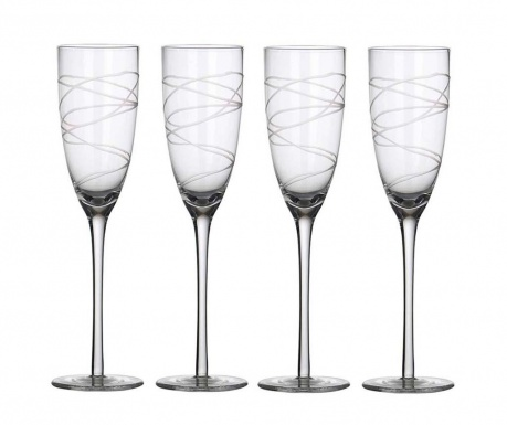Сервиз 4 чаши за шампанско Spirals 150 мл