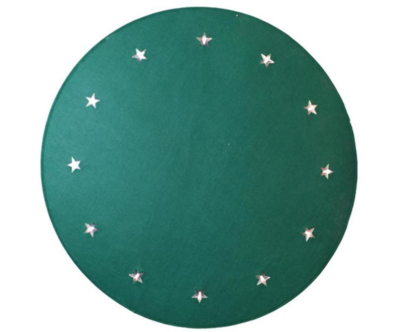Covor luminos Christmas Stars Green