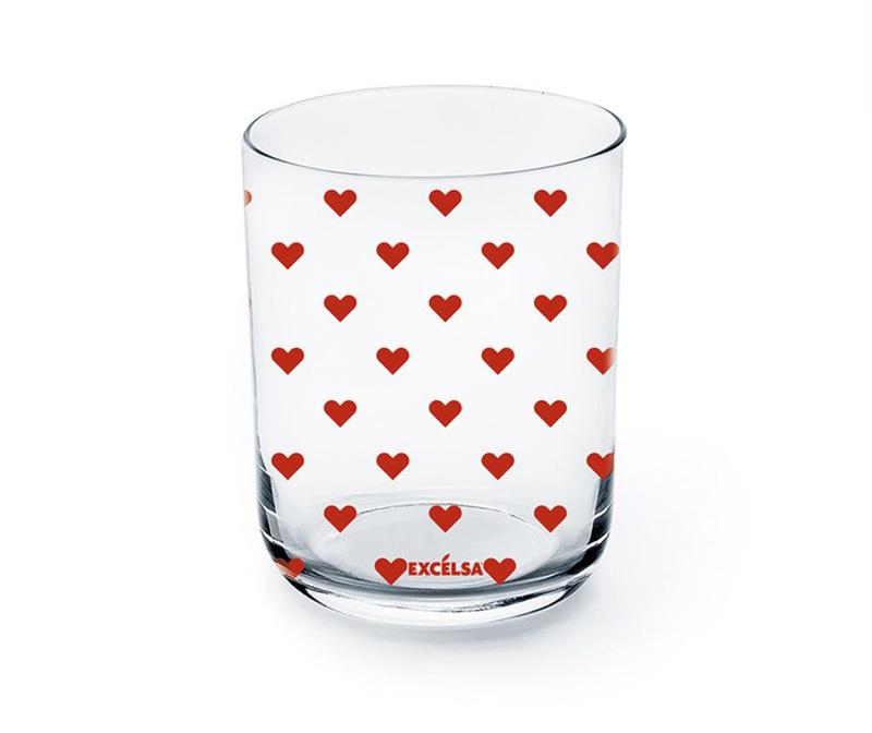 Čaša Red Hearts 350 ml