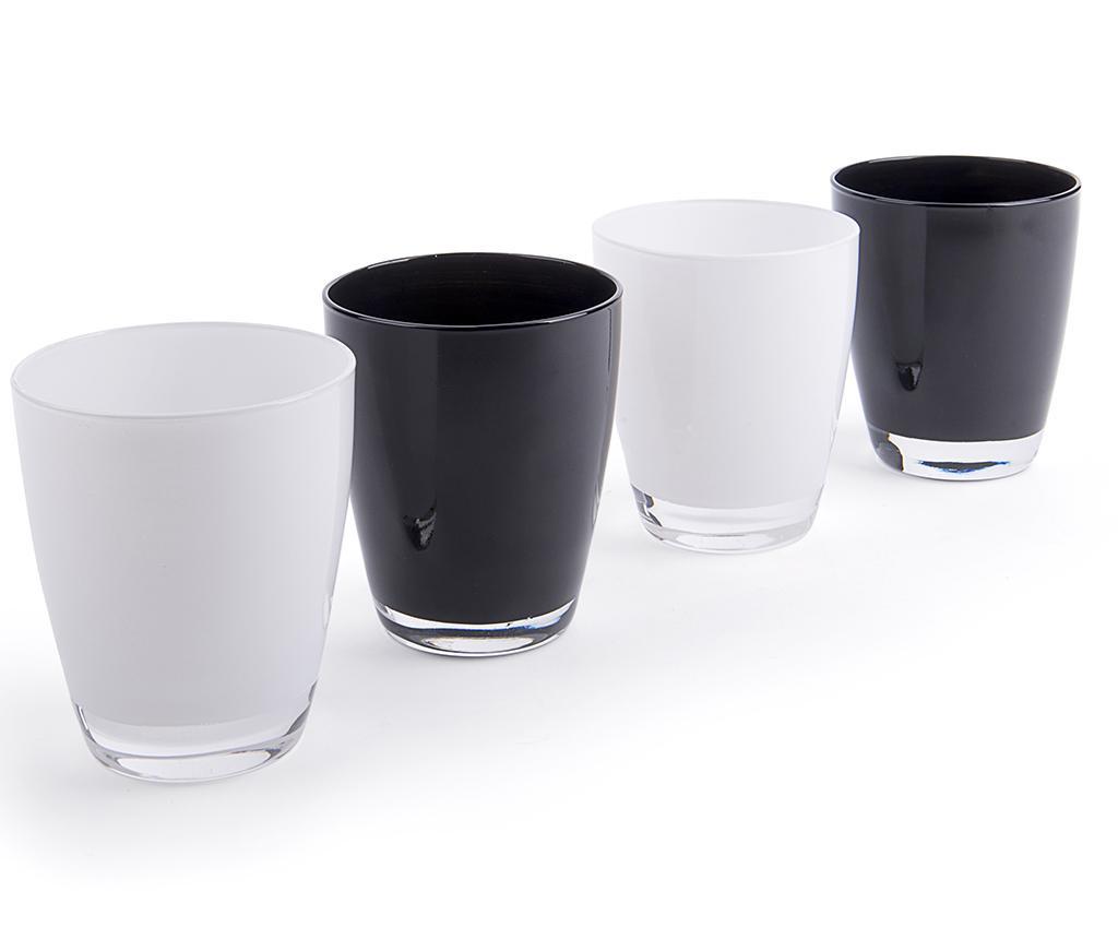 Black & White 4 darab Pohár 300 ml