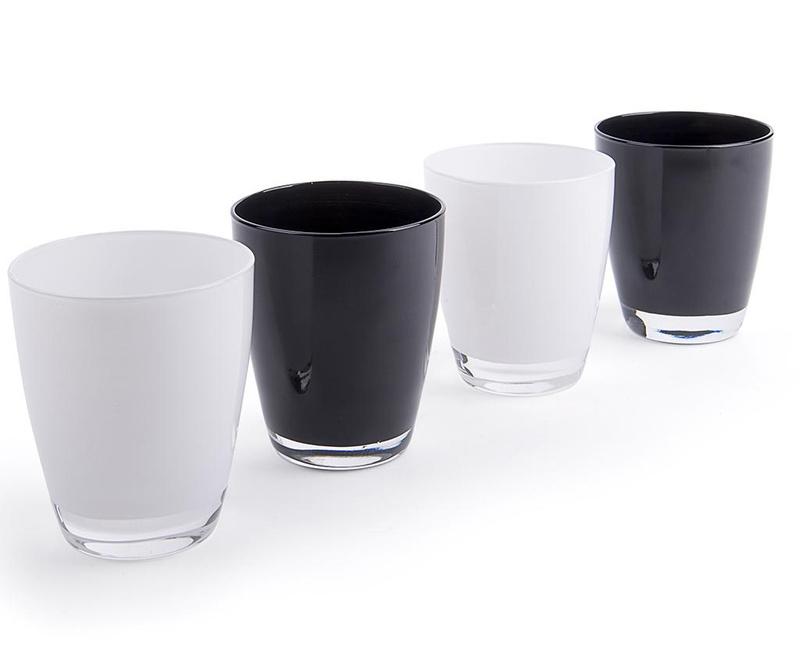 Sada 4 sklenic Black & White 300 ml