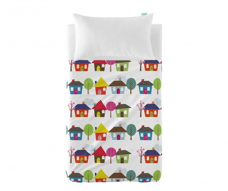 Otroška posteljnina - rjuha in prevleka za blazino Happy Homes Extra Uni