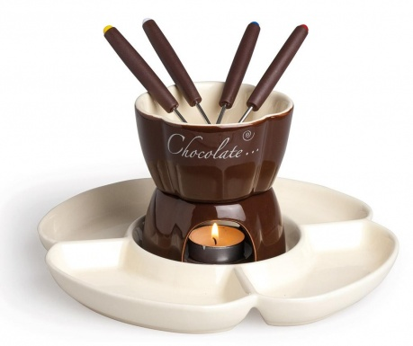 8-dijelni set za fondue Brown