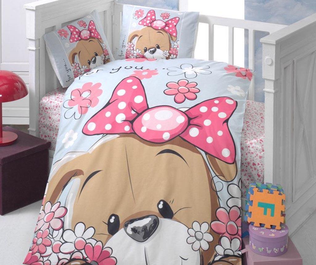 Posteljnina za otroško posteljico Ranforce Cute Puppy 100x150