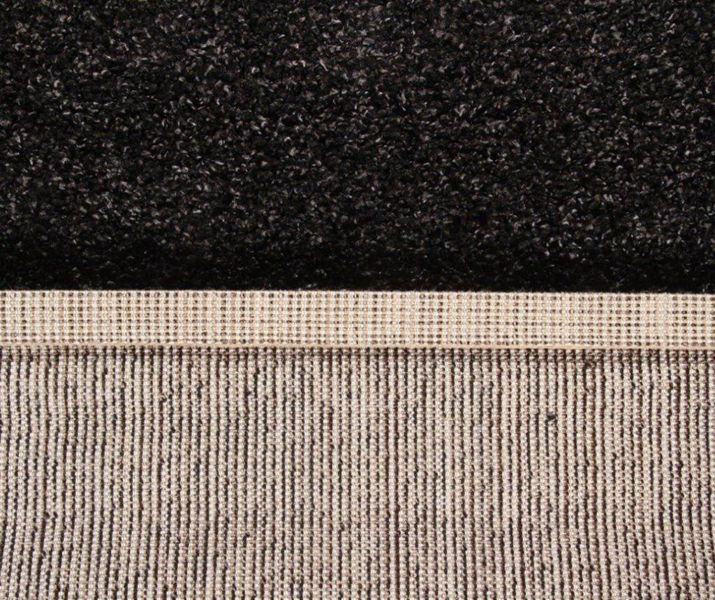 Curly Dark Grey Szőnyeg 150x220 cm