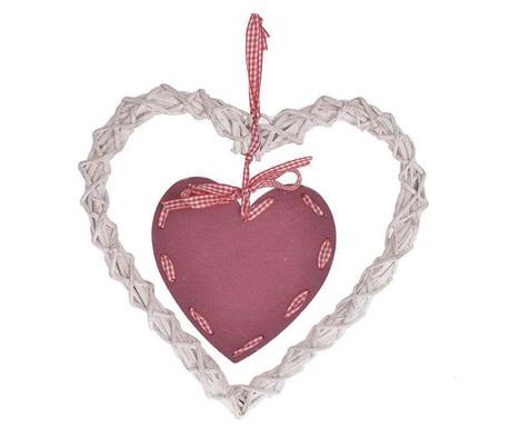 Heart Red White Felfüggeszthető dekoráció