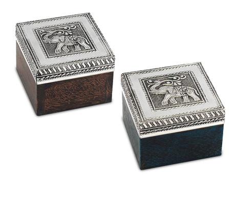 Set 2 cutii  pentru bijuterii Elephant