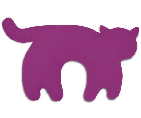 Jastuk za vrat Feline Purple 25x46 cm