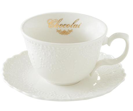 Комплект чашка и чинийка Pure Chocolate