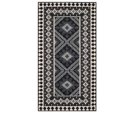 Covor Ratia Black Cream 78x152  cm
